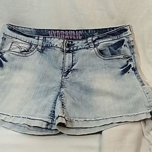 Hydraulic faded jeans shorts size 18